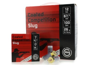 Flintenmunition Geco Coated Competition Slug für IPSC Shotgun